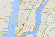 Where is Little Italy on map of Manhattan