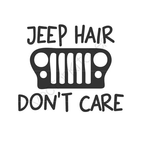 jeep beach logo jeep hair don 39 t care design template svg eps silhouette