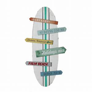 Deco Planche De Surf : d co murale planche de surf multicolore 45 x 90 cm surfing maisons du monde ~ Teatrodelosmanantiales.com Idées de Décoration