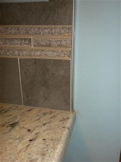 Schluter Tile Edging Backsplash by A Schluter Edge Upstairs Bath Ideas Photos
