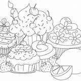 Coloring Cupcake Muffin Cupcakes Ausmalbilder Colouring Adult Printable Colorir Desenhos Kostenlos Popular Kidscolouringpages Salvo sketch template