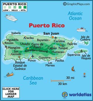 puerto rico map geography  puerto rico map  puerto
