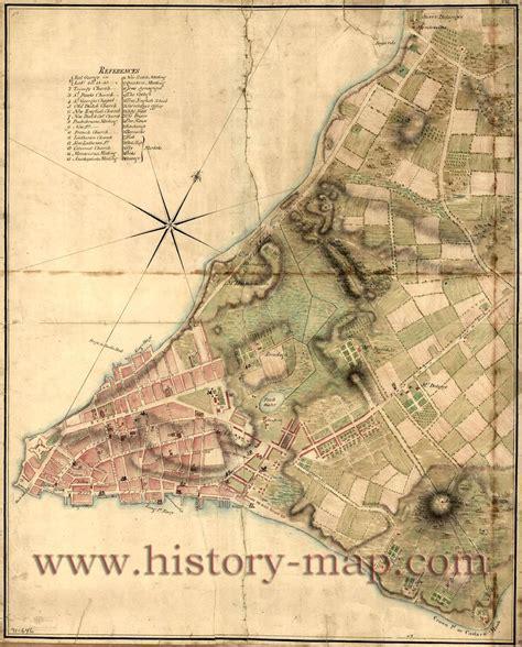 New York City In 1700s Map Of New York New York City