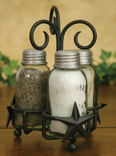 Jars Kitchen Decor by Barn S Patent Salt Pepper Toothpick Caddy