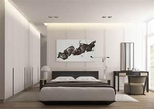 Schlafzimmer Weiß Grau : raumgestaltung ideen in grau 5 moderne appartements ~ Frokenaadalensverden.com Haus und Dekorationen