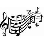 Musical Notes Clipart Clip Flowing Creative Transparent
