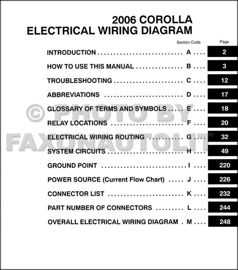 toyota corolla 2006 stereo wiring diagram 2006 toyota corolla wiring diagram manual original