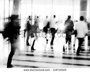 City Business People Moves Office Lobby Stock Photo ...