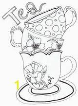 Coloring Kettle Tea Household Stuff Food Amp Divyajanani Pages sketch template