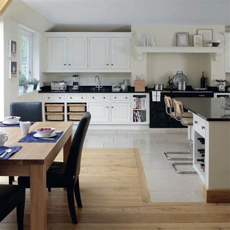 family kitchen design ideas 28 change of flooring use of fireplace for range kitchen