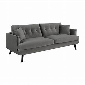 Sofa Grau 3 Sitzer : alban 3 sitzer sofa aus samt grau habitat ~ Eleganceandgraceweddings.com Haus und Dekorationen