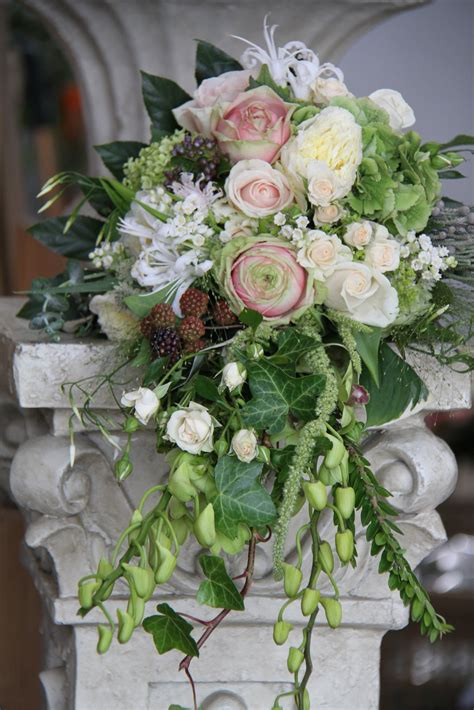 The Flower Magician Cascading Wedding Bouquet In Pale