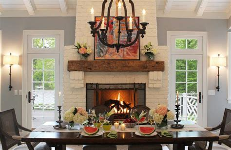 beautiful dining room ideas  fireplaces