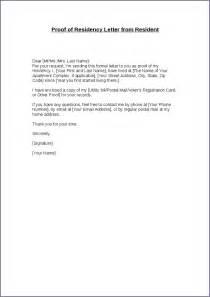 Sample Proof of Residency Letter Template