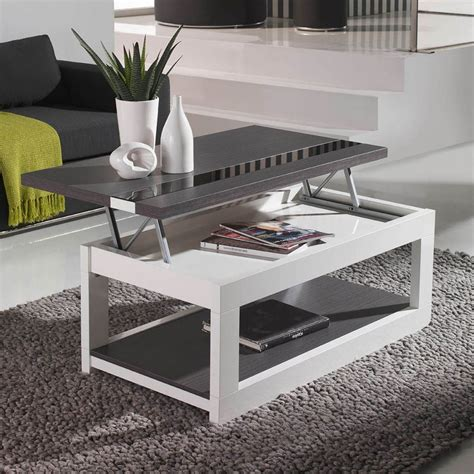 table basse avec plateau relevable pas cher table de salon en palette bois sedgu