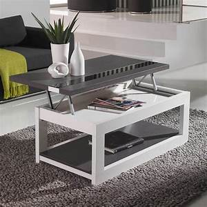 Table Basse Avec Plateau Relevable : table basse relevable plateau verre ~ Teatrodelosmanantiales.com Idées de Décoration