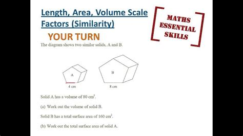 Length Area Volume Scale Factors (similarity) Youtube