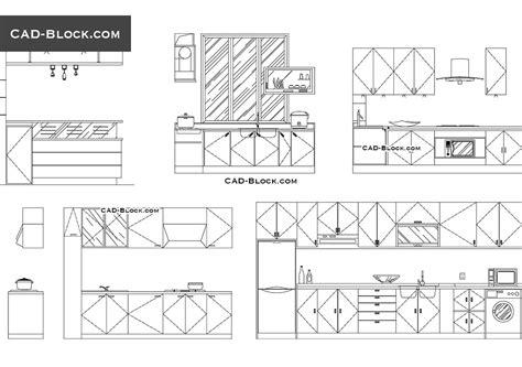 Kitchen Of The Restaurant Dwg, Free Cad Blocks Download