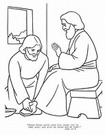 HD Wallpapers Free Printable Coloring Pages Of Jesus Washing The Disciples Feet