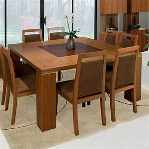 A Collection of Elegant Square Wood Dining Tables