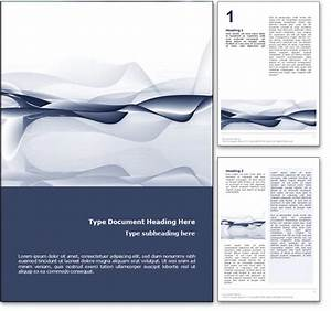 royalty free abstract ocean microsoft word template in blue With word documents layouts