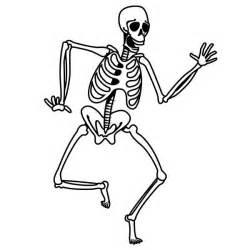 Halloween Skeleton Cute Cartoon Coloring Pages | UTILILAB ...