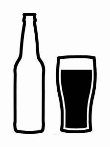 Craft beer bottle and glass Vinyl Decal by ...