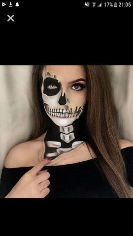 make up skelett make up tutorial