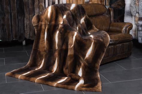 castor rex rabbit fur blanket natural  soft