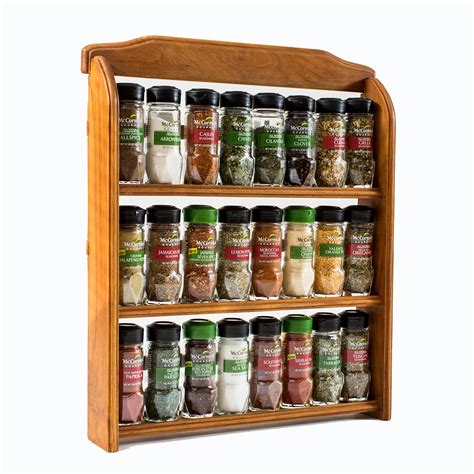 Rack Of Spices by Galleon Mccormick Gourmet Wood Spice Rack