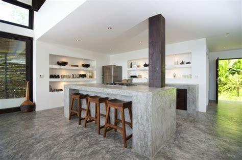 la cuisine de nad cemento como tendencia de decoración para interiores