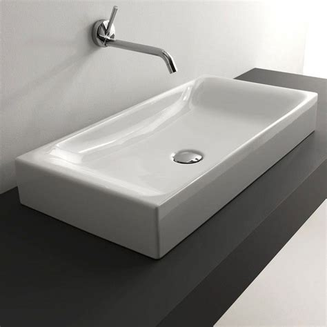 sink on top of counter ws bath collections cento 3556 counter top ceramic sink 27