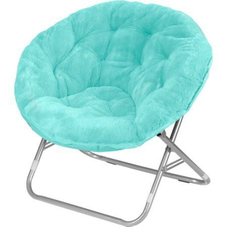 Does Walmart Sell Bungee Chairs by Mainstays Faux Fur Saucer Chair With Cool Faux Fur Fabric