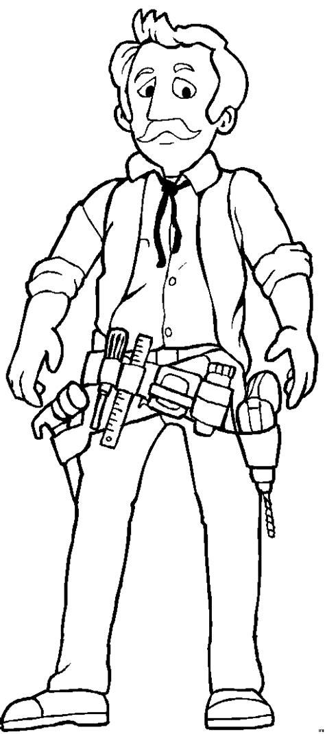 handwerker mit werkzeug ausmalbild malvorlage sonstiges