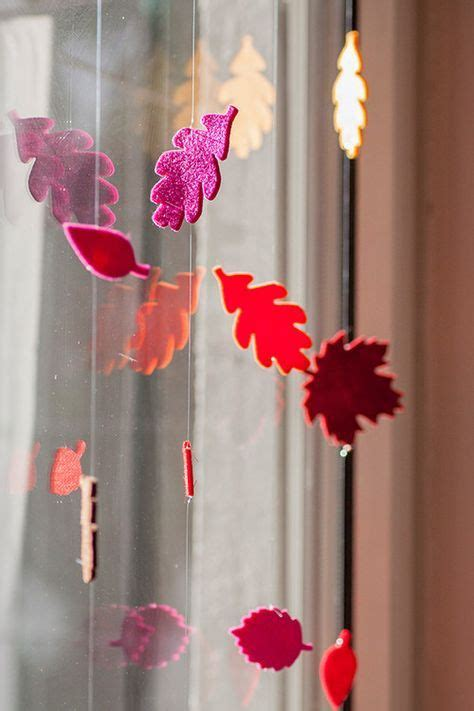 Herbstdeko Fenster Basteln Kindern by Herbst Deko Fenster Bl 228 Tter Stanze Filz Herbst