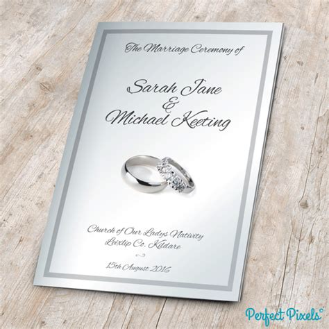 Mass Booklet Templates by Wedding Mass Booklet Black Cover 6