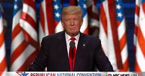 Trump: 'I Humbly and Gratefully Accept Your Nomination'