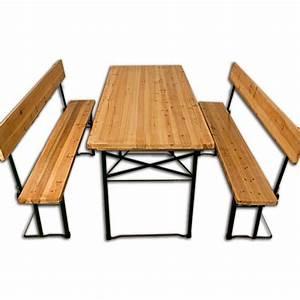 Table Jardin Pliable : salon de jardin table pliable 2x bancs dossier achat vente salon de jardin table pliable ~ Teatrodelosmanantiales.com Idées de Décoration