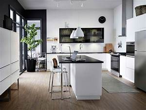 Pinterest Cuisine : cuisine moderne en blanc et noir ikea ~ Carolinahurricanesstore.com Idées de Décoration