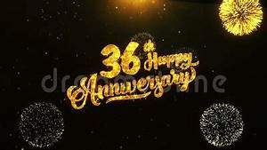 Birthday Greeting Card Background Design 36th Happy Anniversary Text Greeting Wishes Celebration