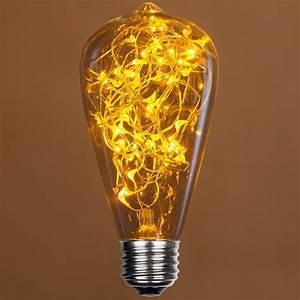 Battery Led Fairy Lights Outdoor St64 Gold Ledimagine Tm Fairy Light Bulb