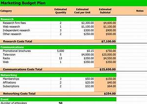 excel template marketing budget planning With how to make a budget plan template