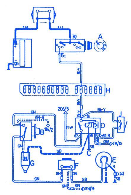 volvo   engine electrical circuit wiring diagram carfusebox