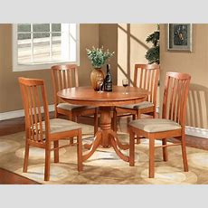 5pc Hartland Round Dinette Kitchen Table Set With 4