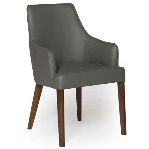 leather dining chair  arms
