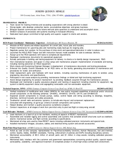 Attention To Detail Resume Description by Joseph Hinkle Resume 01 2015 Visual Resume