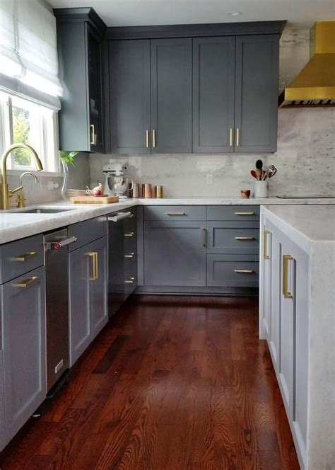 gray kitchen cabinets with hardwood floors 25 best ideas about cherry wood floors on
