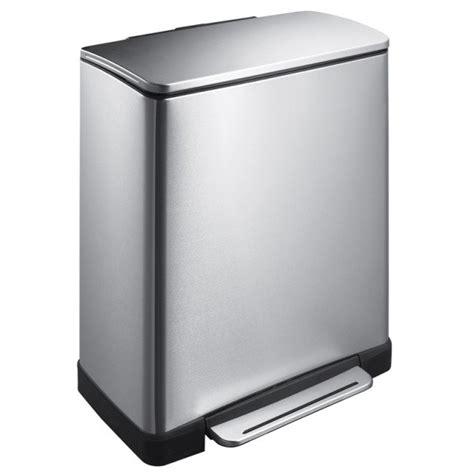 poubelle de cuisine rectangulaire poubelle à pédale rectangulaire 50l eko