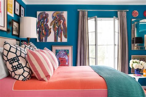 a small bedroom packed with cool caribbean colors hgtv