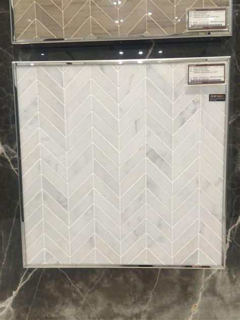 oriental white marble chevron backsplash  ave